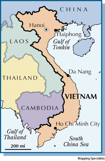 North Vietnam And South Vietnam Map.American Heritage Dictionary Entry Vietnam